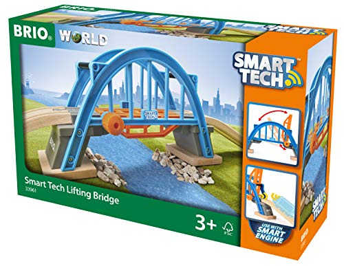 BRIO World Smart Tech Lifting Bridge for Kids age 3 years and up compatible with all BRIO train sets