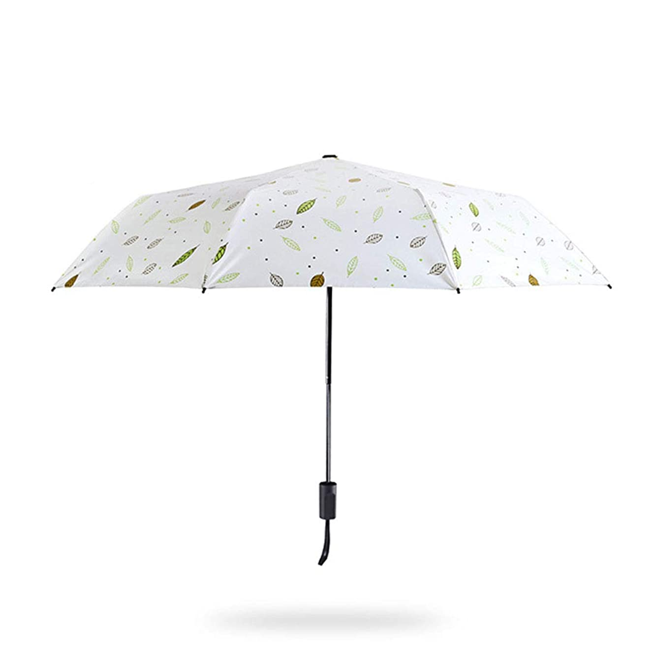 着飾る悲惨連隊Jtydj 抗紫外線折りたたみ女性太陽の雨傘 (色 : ホワイト)