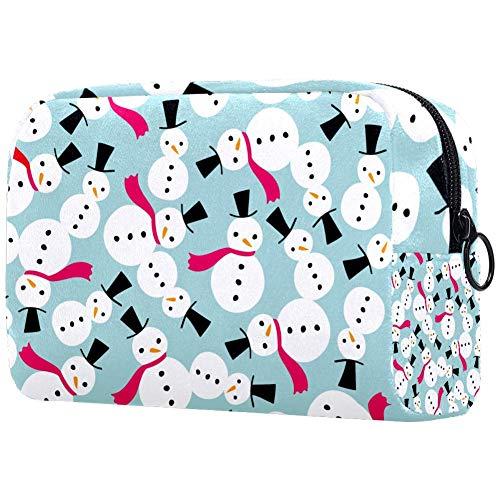 Snowmen Fuchsia Sjaal Kleine Make-up Tas voor portemonnee Reizen Make-up Pouch Mini Cosmetische Tas voor Vrouwen