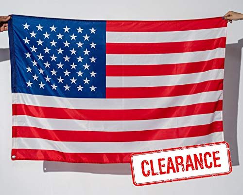 American Flag 3x5 FT  2X Thick Polyester  UV Protected QuadrupleStitched Fly End DoubleStitched Edges Brass Grommet American Flag 3x5 Outdoor