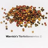 Warnicks Tierfutterservice KOI - KOIFUTTER 10-Sorten-Mix 15 kg mit Spirulina & Paprika in 6mm (3+6mm)