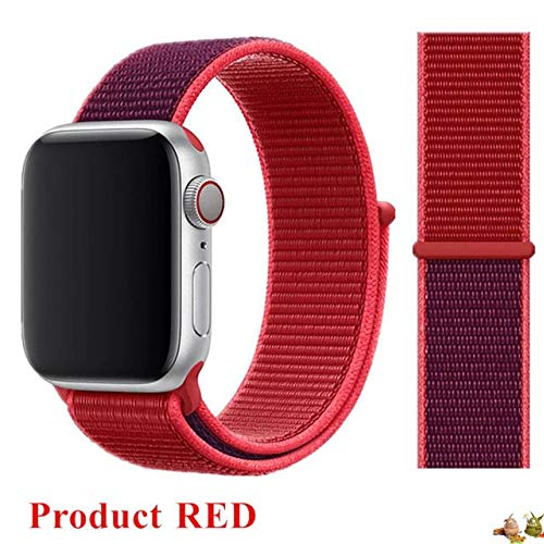 Stoffe-Monster X_Loop Watch pulsera Sport Product Rojo Red 38 mm/40 mm