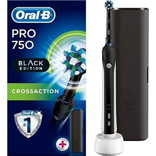 Braun Oral B Pro 750 All Black Edition 3D avec étui de voyage