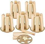 com-four® 6X Encendedor de leña y Parrilla de Madera para Llevar - Encendedor ecológico e Inodoro para chimeneas - rápido, liviano y Efectivo