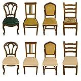 Banzaii 6 Pezzi Coprisedia Universale Senza Schienale Subito Fatto per Sedie da Ufficio, Cucina, Sala da Pranzo, Camera, Hotel o Ristorante in Tessuto Super Elasticizzato, Made in Italy Panna