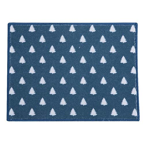 Vikenar Retangular Wärmeisolierende Absorbent Teller Teppich-Matten-Auflage for Dinning Table (dunkelblau)