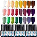NICOLE DIARY 24 Farben Geschenkset Gel Nagellack-Set Christmas UV-LED-Nagellacke für Nail Art 8 ML/PC Packung mit Spring into Summer 24 Pretty Colors Series Kit