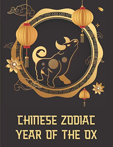 Chinese Zodiac: Year Of The Ox - Vietnamese Happy New Year Lucky Gift - Asian Lunar Calendar Astrology Sign - Best Creative Notebook Journal - Gold & Brown Cover 8.5