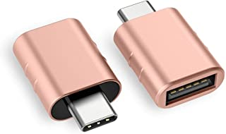 Syntech USB C to USB Adapter (2 Pack), Thunderbolt 3 to USB 3.0 Adapter Compatible with MacBook Pro 2019 and Before, MacBook Air 2019/2018, Dell XPS and More Type C Devices, Gold