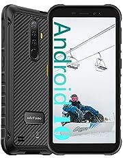 Ulefone Armor X8 Rugged Smartphone Rugged in het aanbod - 4 GB RAM + 64 GB ROM, 13 MP camera, 5080 mAh, HD + 5,7 inch, Android 11 IP68 mobiele telefoon, duurzaam, NFC FM zwart