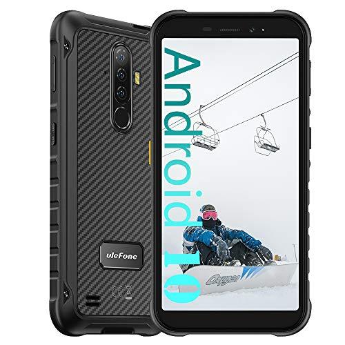 Ulefone Armor X8 4G Smartphone ohne Vertrag, Octa-Core 4GB RAM + 64GB ROM, 13MP + 8MP Kamera, 5,7-Zoll-FHD+, Android 10 IP68 Outdoor Handy Mobile Phones, 5080 mAh, NFC Unterwassermodus Schwarz