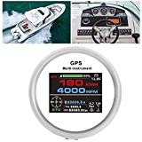 Luroze Medidor GPS, velocímetro GPS, kilometraje Ajustable, 85 mm para automóvil, Motocicleta, Tractor, camión para Todos los vehículos
