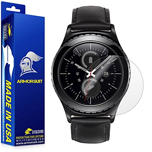 ArmorSuit Samsung Gear S2 Classic 40mm Screen Protector (2 Pack) Full Coverage MilitaryShield Screen Protector for Gear S2 Classic 40mm -HD Clear Anti-Bubble