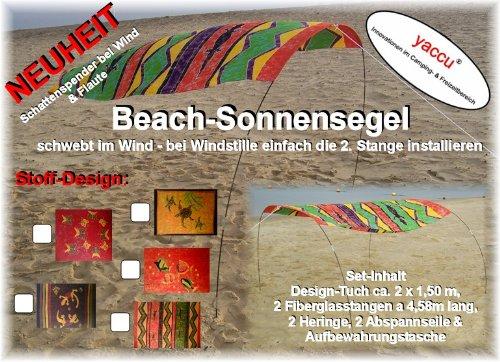 Yaccu Beach-SONNENSEGEL, ca. 2,00 x 1,50 m TUCHMAß Design Schmetterling