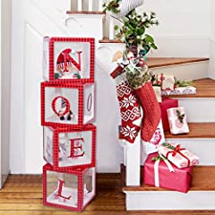 Do you want to have an eye-catching holiday decoration? these plaid Noel blocks were just what you need to add a new touch to your Christmas decor. With this NOEL blocks custom decoration, guarantees you the memorable Christmas party that you've alwa...
