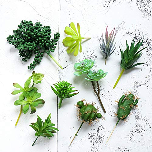 BBGSFDC 10 plantas suculentas artificiales sin maceta, plantas suculentas artificiales realistas, suculentas artificiales, suculentas, decoración de oficina, diferentes tipos de suculentas suculentas