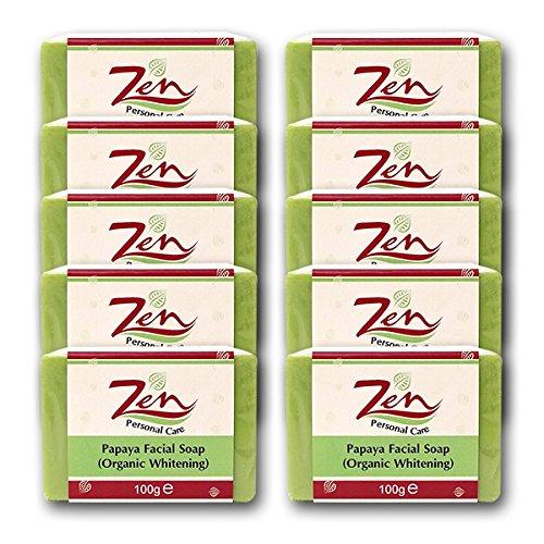 Papaya Facial Whitening Soap Pack 10 100gms Antibacterial Antifungal Skin Whitening