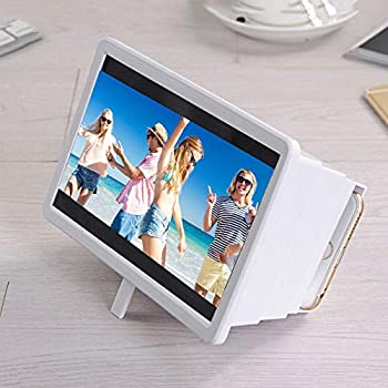 Ceepko Newly Upgraded 3D Phone Screen Magnifier Anti-Radiation Eye Protection Mobile Movie Enlarger with Flexible Stand for All Smart Phones 12 inch HD Stereoscopic Phone Screen Amplifier Projector