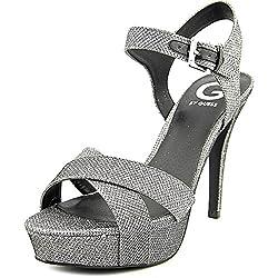 cheap G Von Guess Cenikka Ankle Strap Ankle Strap Ladies Platform Pumps 10.0M US Size