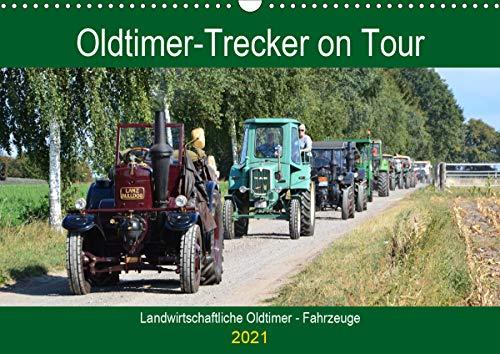 Oldtimer-Trecker on Tour (Wandkalender 2021 DIN A3 quer)