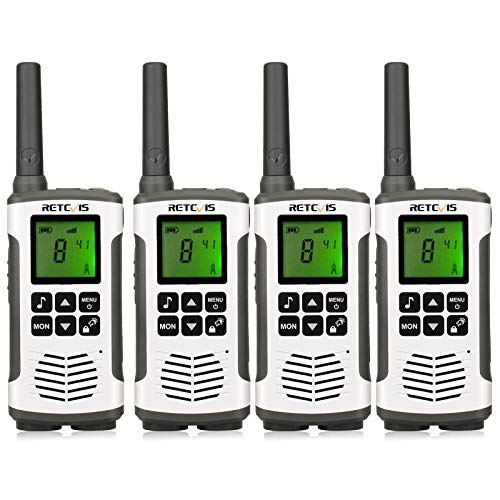 Retevis RT45 Two Way Radios Rechargeable 22 Channels 10 Call Tones VOX Hands-free Walkie Talkies With Flashlight (4 Pack)