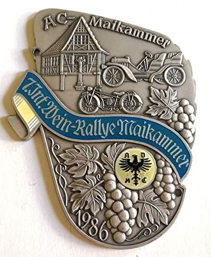 Generisch Plakette 7. Int. Wein-Rallye Maikammer AC-Maikammer 1986 ADAC Andenken Sammler