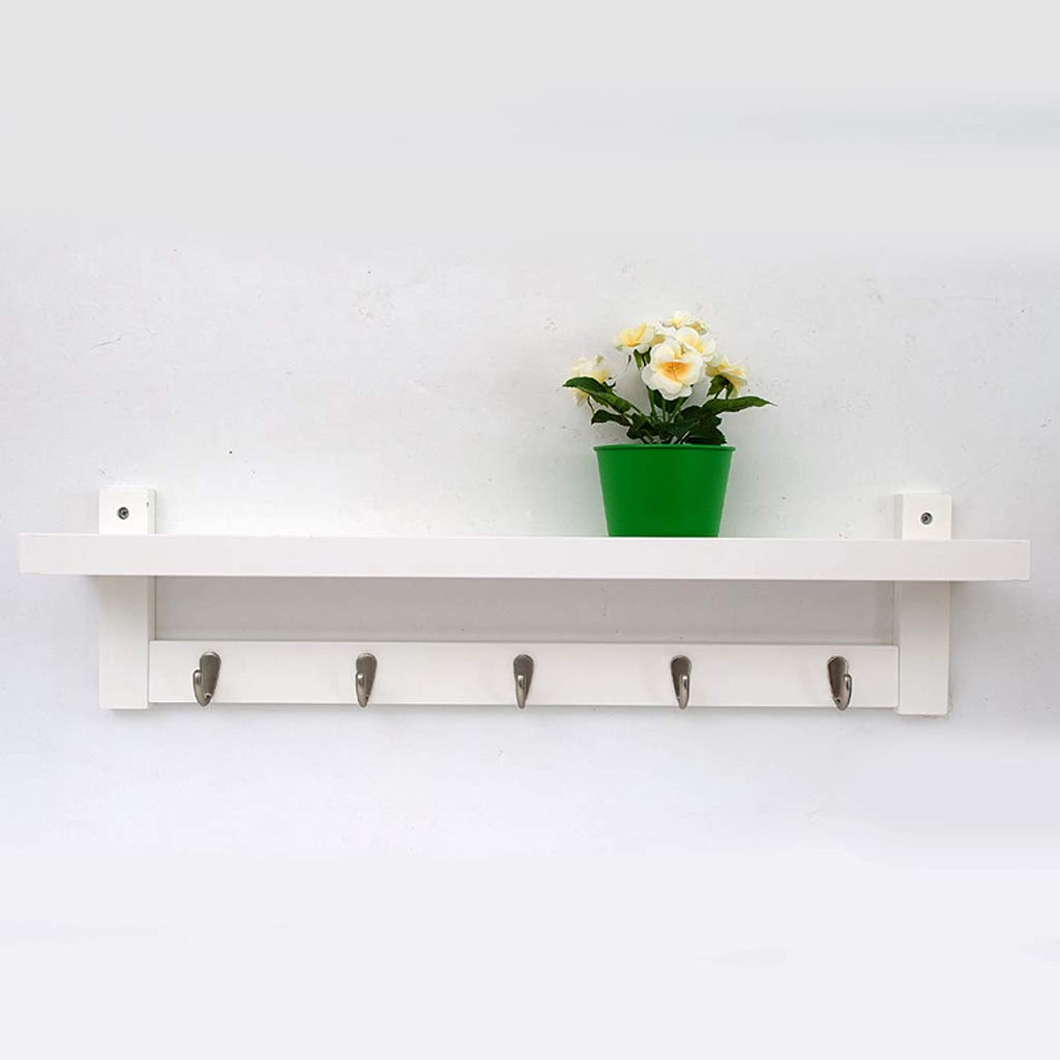 Coat Rack Wall Hanging Northern Europe Creative Hangers Solid Wood Wall Hanger (color   White)