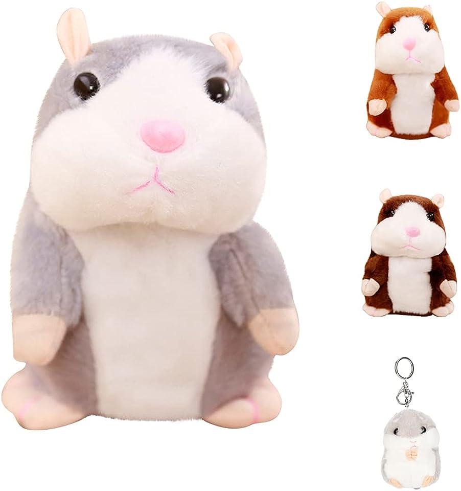 Sprechender Hamster Plüsch Spielzeug Wiederholt was Sie Sagen Mimikry Haustier Elektronische Sprechende Aufzeichnung Stofftier Adorable Interaktives Spielzeug für Baby Kinder