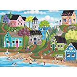 Spilsbury - 1000 Large Piece Premium Jigsaw Puzzle for Adults by Artist Kim Leo - Summer Fun - Spilsbury Puzzle Company Premium Collection