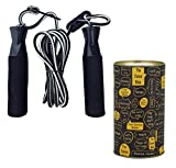 The Dance Bible Adjustable Jumping Skipping Rope for Gym, Exercise, Home Fitness Core