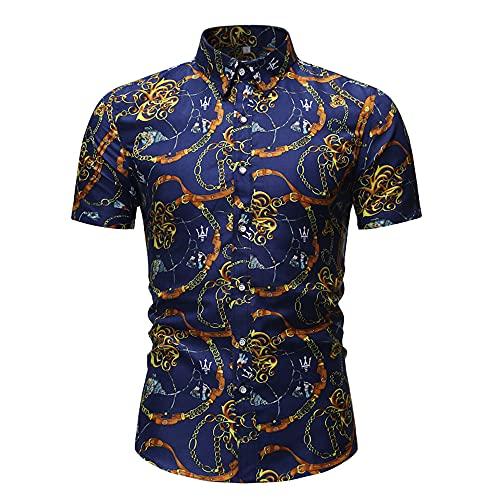 Henley Camisa Hombre Moderna Moda Cárdigan Ajustado Hombre Shirt Verano Básica Elástica Vintage Estampado Hombre Manga Corta Urbana Casual Vacaciones Hombre Playa Shirt