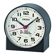 Seiko Alarm Clock, Black, 8.2 x 7.8 x 4.3