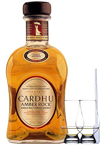 Cardhu Amber Rock Single Malt Whisky 0,7 Liter + 2 Glencairn Gläser + Einwegpipette 1 Stück