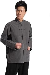 ZooBoo Traditional Long Sleeve Tang Kung Fu Uniform Men's Shirt