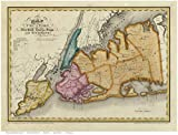 Long Island - Queens and Kings County, Staten Island, etc - 1829 Map New York Reprint - Burr State Atlas