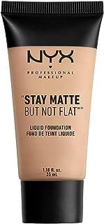 NYX PROFESSIONAL MAKEUP Stay Matte but not Flat Liquid Foundation, Nude Beige, 1.18 Fl Oz