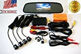 Sunframe Complete Car Reversing kit- 4.3 Inch TFT LCD Rearview Mirror Monitor, Backup Camera, 4 Parking Sensors Alarm