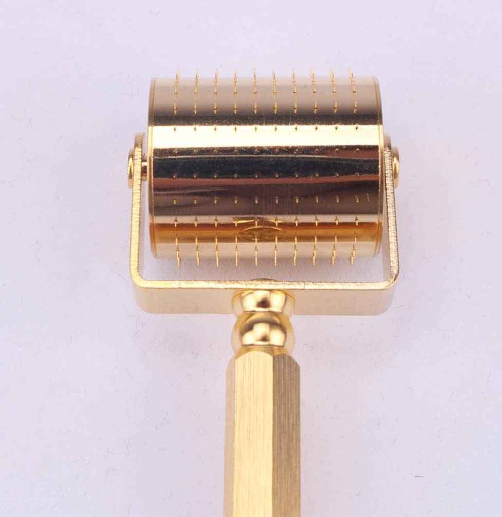 Gold Derma roller 0.25mm Facial Beauty Cosmetic Microneedling Microneedle Face Roller 250 Titanium Micro Needles : Everything Else