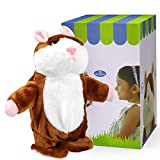DeXop Talking Hamster Plush Toy Repeats What...