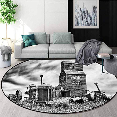 Buy Cheap RUGSMAT Industrial Round Rug,Old Vintage 60S Tractor Oriental Floor and Carpets Diameter-5...