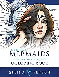 mythical mermaids coloring book for adults