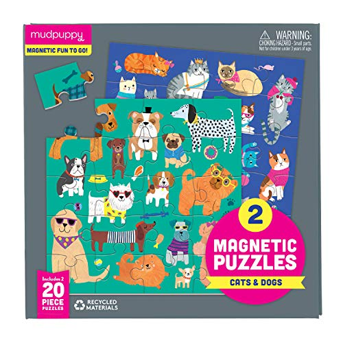 Mudpuppy Cats & Dogs Magnetic Puzzles, Multicolor
