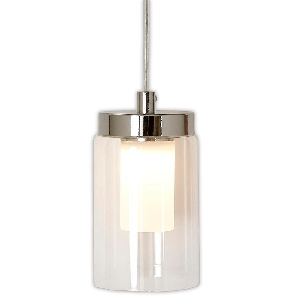 洗練されたニッケルのキャンドルランプガラスサラウンドLED照明器具化粧台、寝室または浴室の室内照明シルバーペンダントHH1160-L