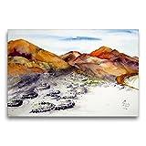 Premium Textil-Leinwand 75 x 50 cm Quer-Format La Geria -