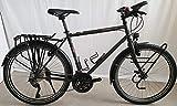 vsf TX-400 Trekking Bike 2020 - Bicicleta de montaña para hombre (26 pulgadas, diamante 52 cm, acabado mate), color negro