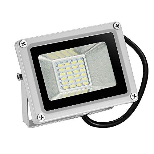 TEquem LED 12V DC 10W 20W 30W LED Außenstrahler Wasserdicht IP65 Aluminium Strahler Flutlicht Wandstrahler [Energieklasse A+] (kaltes Weiß, 20W)
