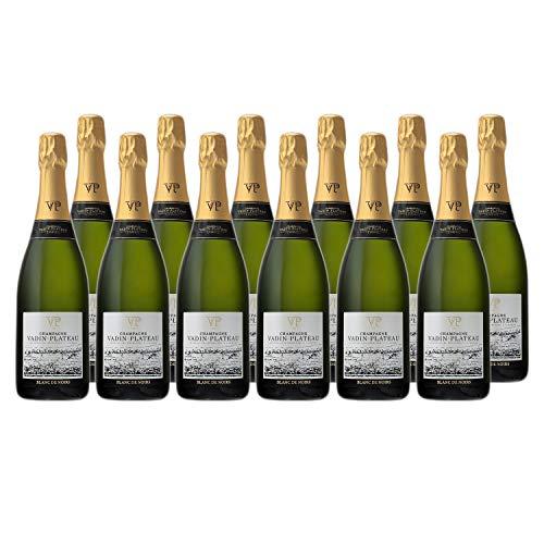 Champagne Cuvée Blanc de Noirs - Champagne Vadin Plateau - Rebsorte Pinot Meunier, Pinot Noir - 12x75cl - 15,5/20 Gault & Millau