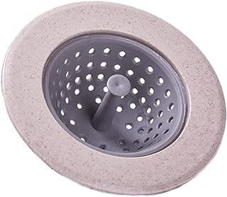 Love May plástico para Fregadero baño desagüe Tamiz Lavabo para Lavabo Fregadero baño Ducha etc, Silicona, Beige, 11 cm