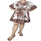Ukal Women Sleepwear Beach Gown Nighty Dress Maxi Short Kaftan (Color : Red)