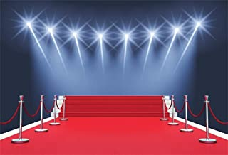 6x4ft Stage Red Carpet Backdrop Star Catwalks Spotlight Photography Background Cine Film Show Event Celebrity Activity Premiere Award Movie Ceremony Photo Studio Props Party Banner Wallpaper